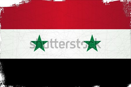 Vlag Syrië land grafische Stockfoto © Bigalbaloo
