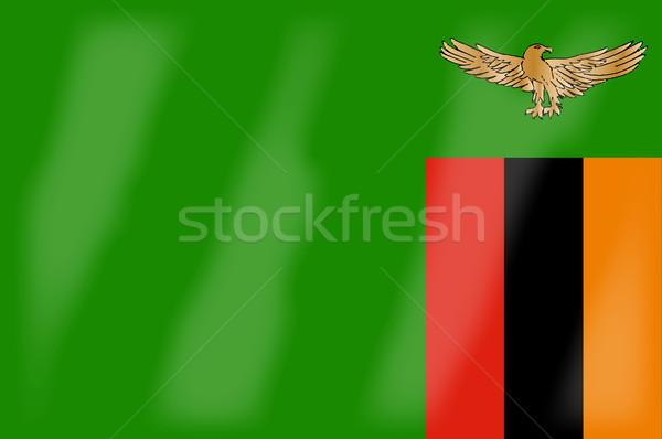 Замбия флаг африканских стране искусства Сток-фото © Bigalbaloo