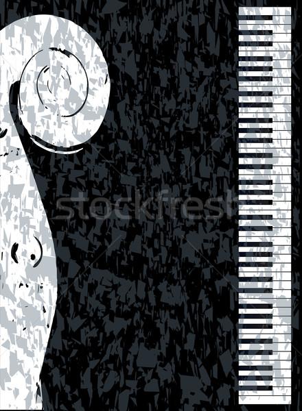 Piano and Violin Stock photo © Bigalbaloo