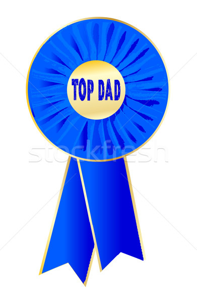 Top Dad Rosette Stock photo © Bigalbaloo