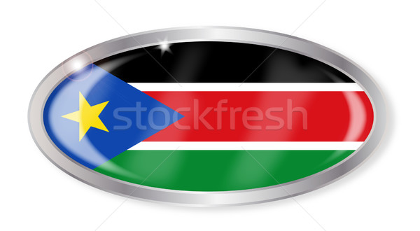 South Sudan Flag Oval Button Stock photo © Bigalbaloo