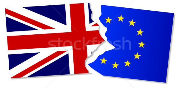 EU and Great Britain Flags Stock photo © Bigalbaloo