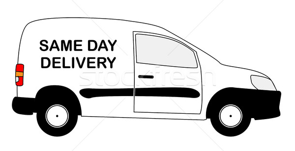 Small Same Day Delivery Van Stock photo © Bigalbaloo