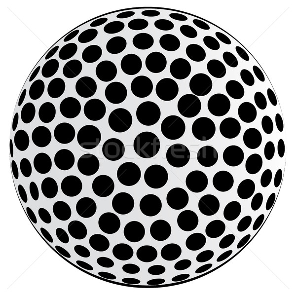 Black Spotted Ball Background Stock photo © Bigalbaloo