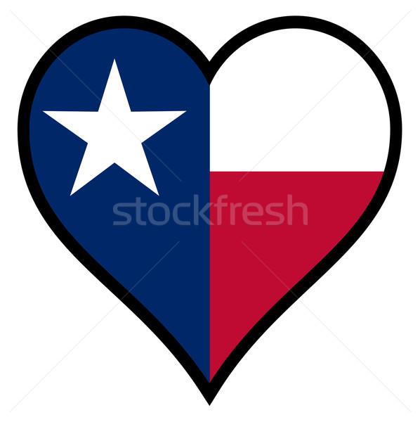 Amor Texas bandeira coração branco Foto stock © Bigalbaloo