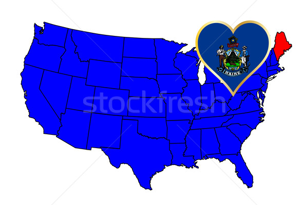 State of Maine Stock photo © Bigalbaloo