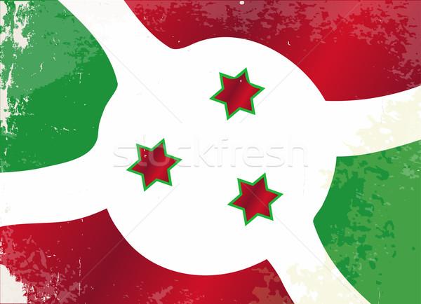 Burundi bandeira grunge africano país África Foto stock © Bigalbaloo
