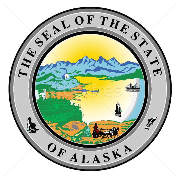 Sceau Alaska blanche dessin Photo stock © Bigalbaloo