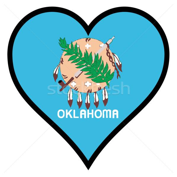 Amor Oklahoma bandeira coração branco Foto stock © Bigalbaloo