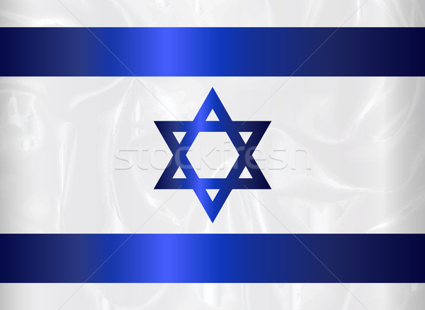 Izrael csillag zászló kék fehér háttér Stock fotó © Bigalbaloo