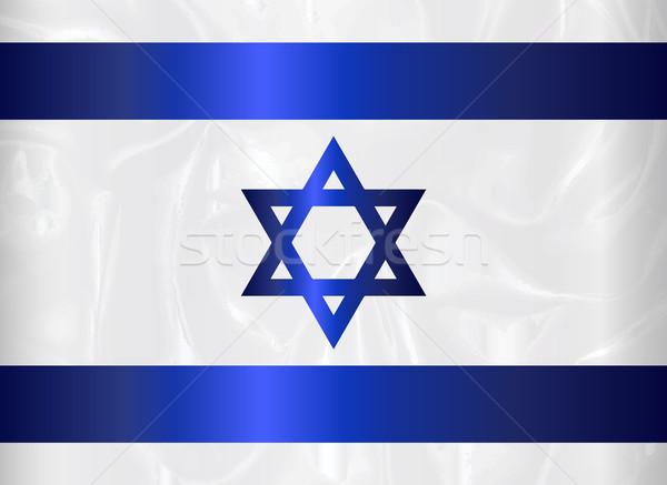 Израиль звездой флаг синий белый фон Сток-фото © Bigalbaloo