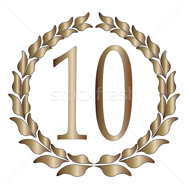 10th Anniversary Stock photo © Bigalbaloo