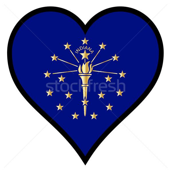 любви Иллинойс флаг сердце белый Сток-фото © Bigalbaloo