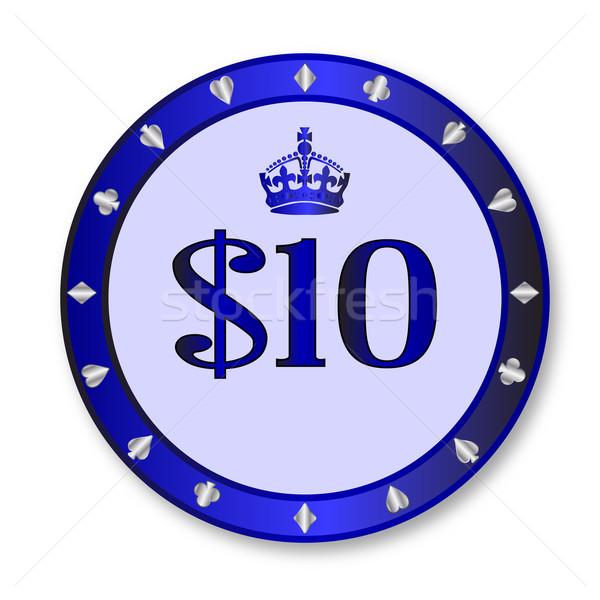 10 Dollar Chip Stock photo © Bigalbaloo