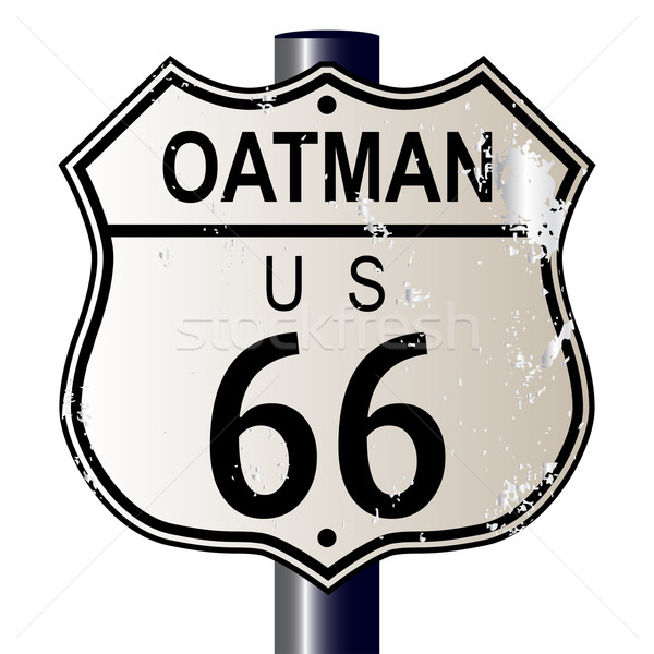 Stock photo: Oatman Route 66 Sign