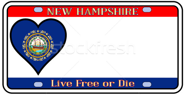 New Hampshire placa colores bandera iconos blanco Foto stock © Bigalbaloo