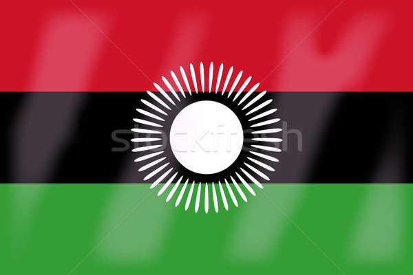 Malawi Flag Stock photo © Bigalbaloo