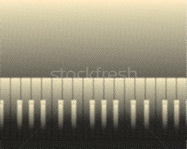 Halftone Piano Stock photo © Bigalbaloo
