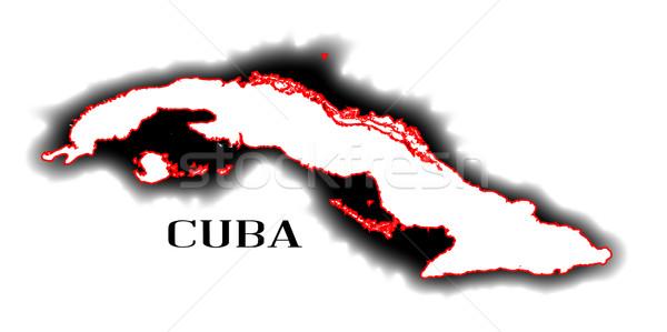 キューバ 地図 国 グラフィック ストックフォト © Bigalbaloo