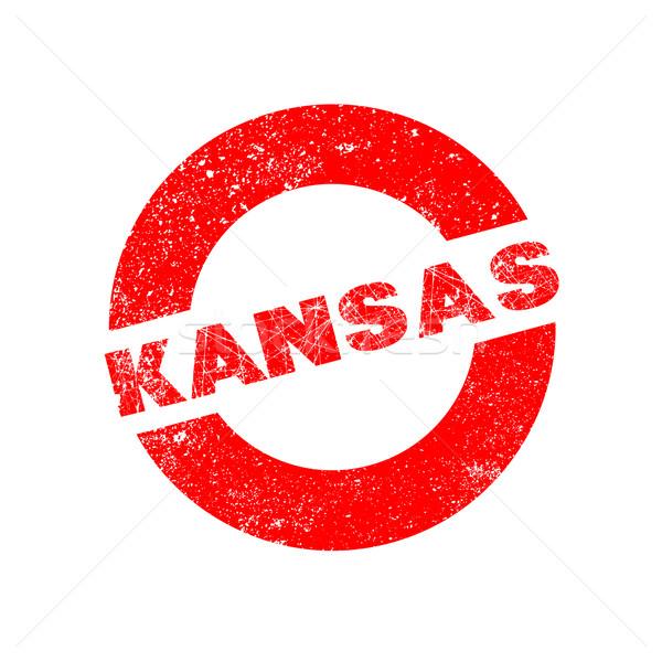 Kauçuk mürekkep damga Kansas metin Stok fotoğraf © Bigalbaloo
