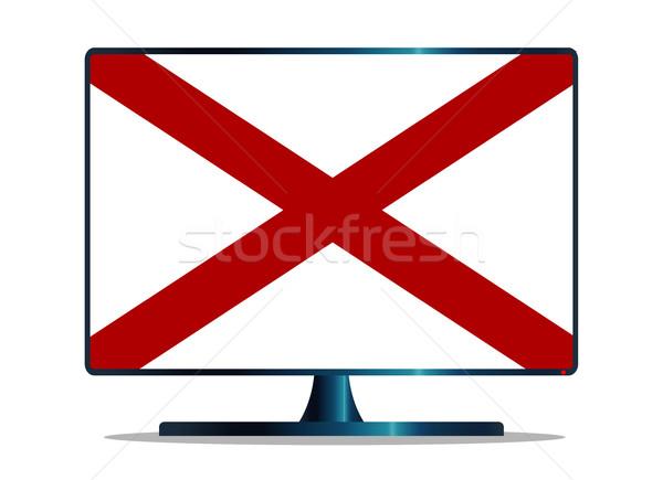 Алабама флаг телевизор экране компьютера компьютер контроля Сток-фото © Bigalbaloo