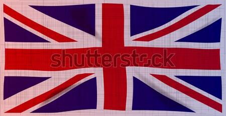 Grunge union jack vlag zwaar stijl brits Stockfoto © Bigalbaloo