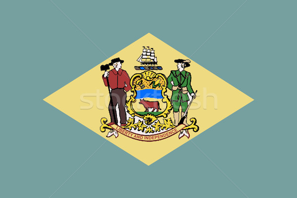 Bayrak Delaware çizim mühürlemek ABD vektör Stok fotoğraf © Bigalbaloo