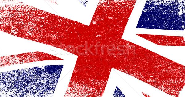 Union jack britânico bandeira azul branco gráfico Foto stock © Bigalbaloo