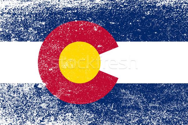 Колорадо флаг Гранж Соединенные Штаты американский эффект Сток-фото © Bigalbaloo