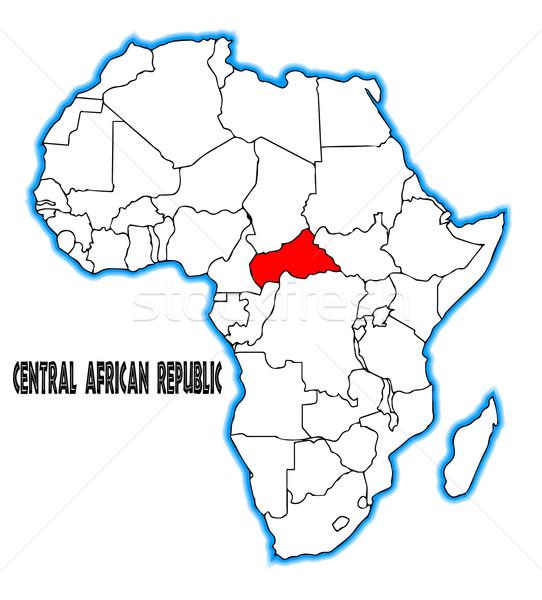 セントラル アフリカ 共和国 地図 アフリカ ストックフォト © Bigalbaloo