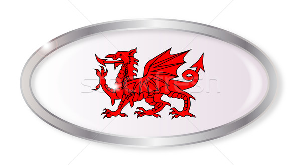 Welsh Dragon Oval Button Stock photo © Bigalbaloo