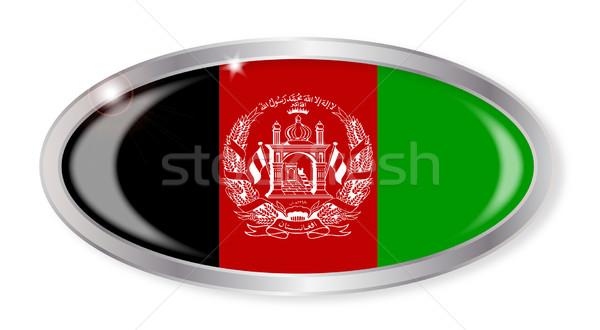 Afghanistan Flag Oval Button Stock photo © Bigalbaloo