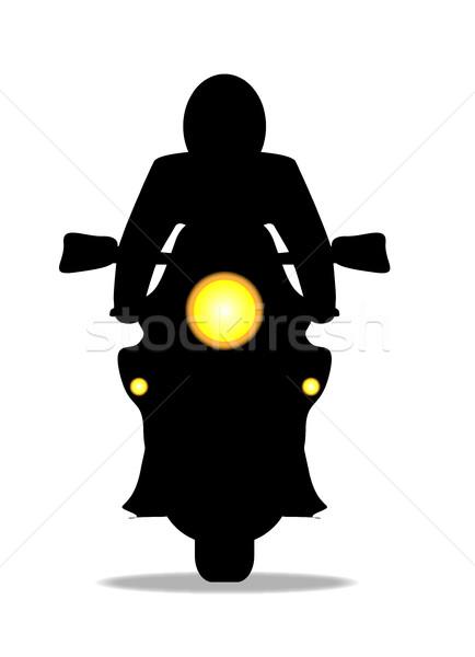 Motorcycle Silhouette Stock photo © Bigalbaloo