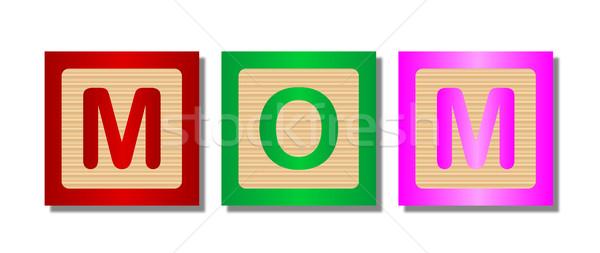 Palabra mamá colección cartas ortografía Foto stock © Bigalbaloo