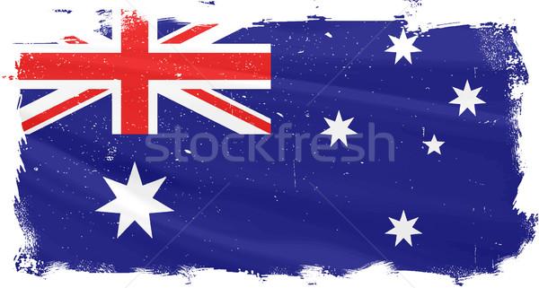 Australian Flag Griunge Stock photo © Bigalbaloo