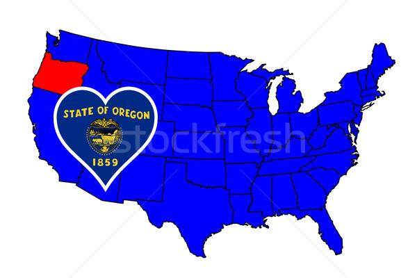 State of Oregon Stock photo © Bigalbaloo