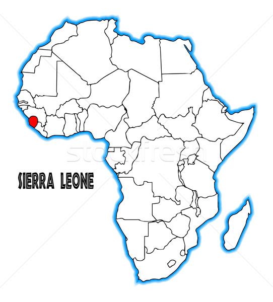 Sierra Leone Stock photo © Bigalbaloo