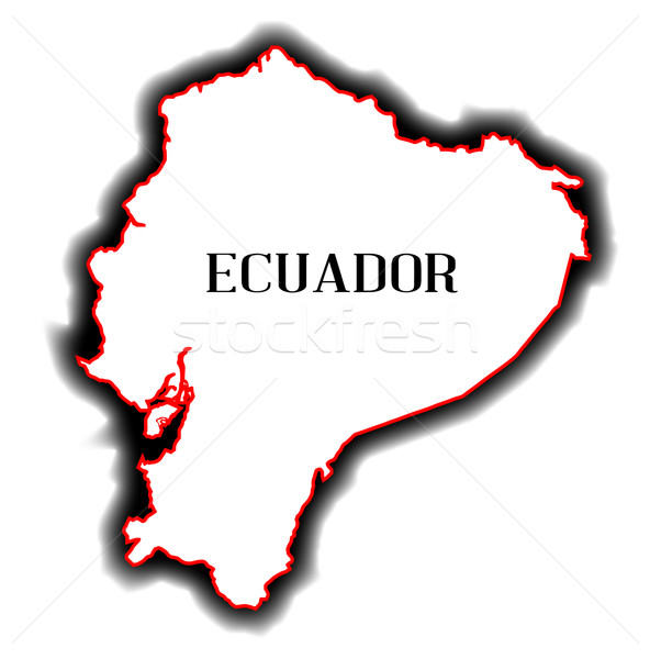 Equateur carte amérique du sud pays dessin Photo stock © Bigalbaloo