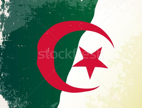 Argélia bandeira africano país África Foto stock © Bigalbaloo
