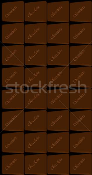 Pure chocola bar typisch chocolade melk snoep Stockfoto © Bigalbaloo