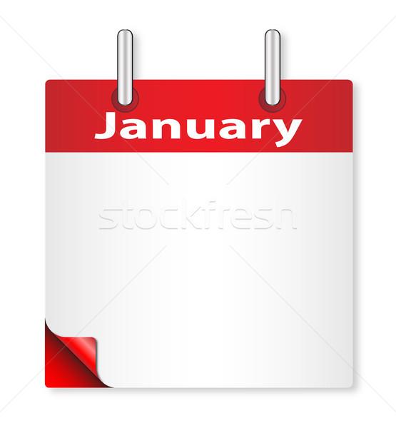 Blank January Date Stock photo © Bigalbaloo