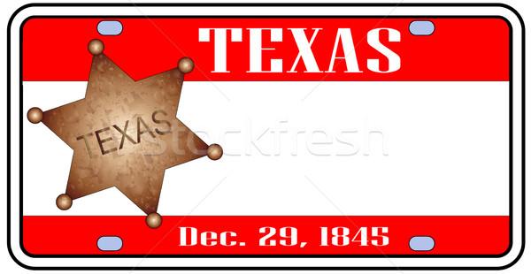Texas Plate Stock photo © Bigalbaloo
