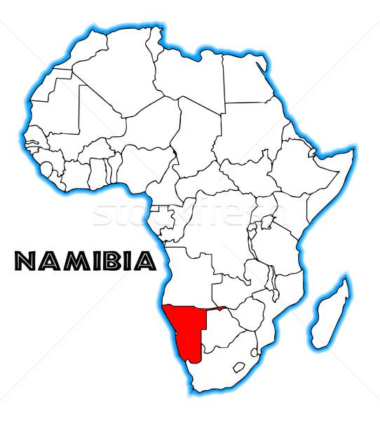 Намибия карта Африка белый черный Сток-фото © Bigalbaloo