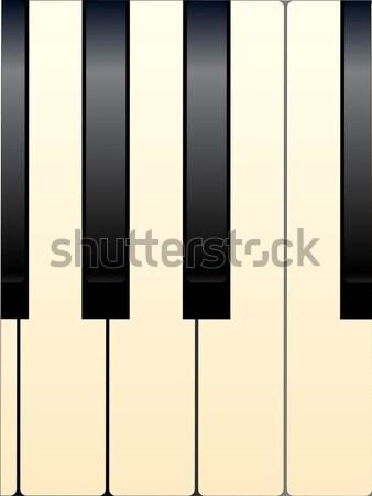 Piano Keys Stock photo © Bigalbaloo