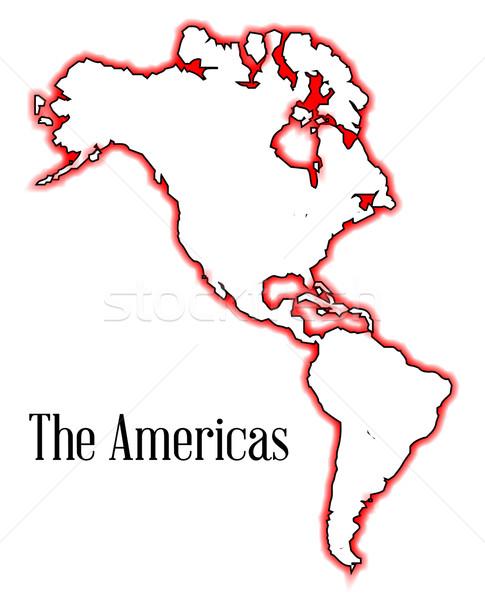 The Americas Stock photo © Bigalbaloo