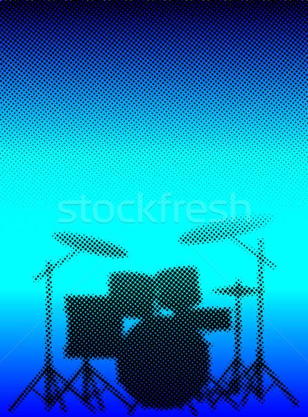 Halftone Band Poster Stock photo © Bigalbaloo