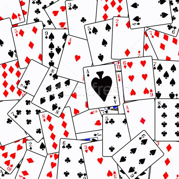 Random Playing Card Background Stock photo © Bigalbaloo