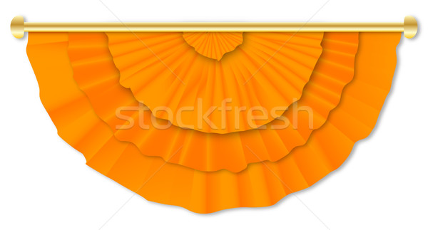 Orange  Flag Bunting  Stock photo © Bigalbaloo