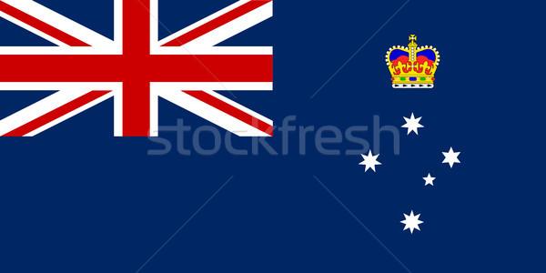 Victoria State Flag Stock photo © Bigalbaloo