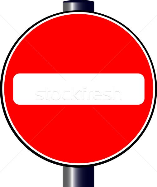 Durdurmak büyük kırmızı trafik dur işareti işaretleri Stok fotoğraf © Bigalbaloo